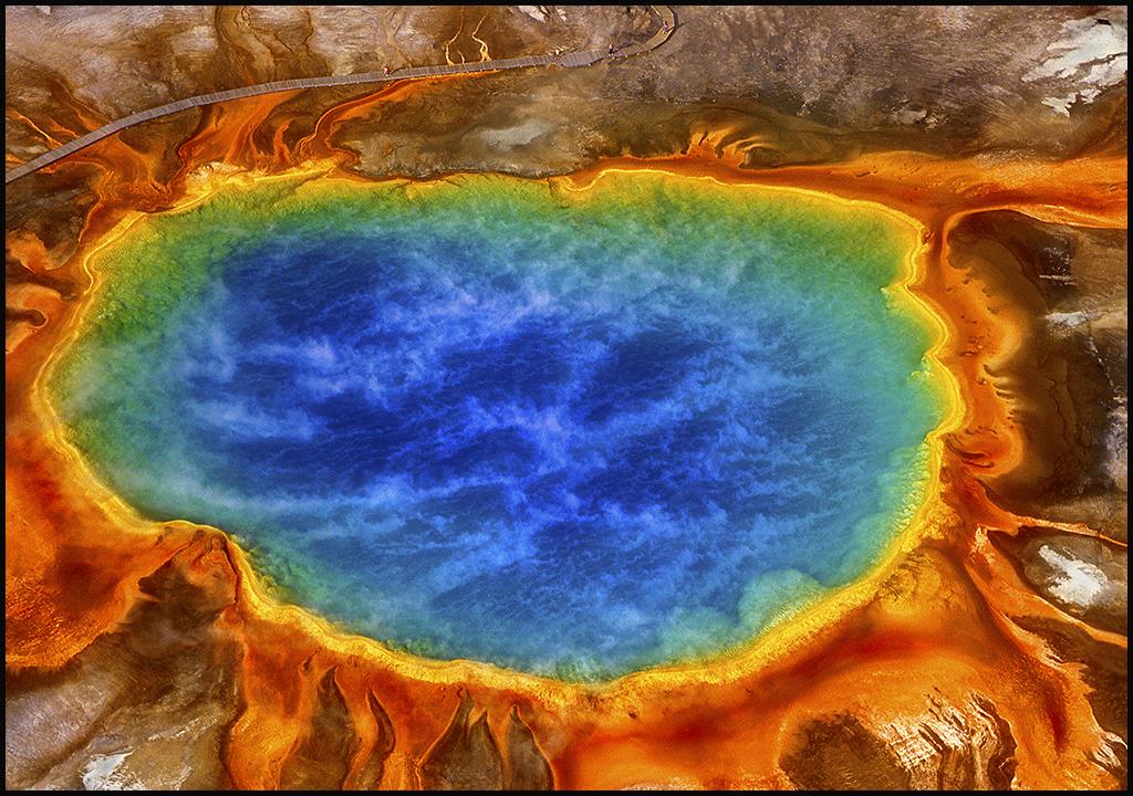"Raymond Gehman, ""Grand Prismatic Spring"", Yellowstone National Park, Wyoming"