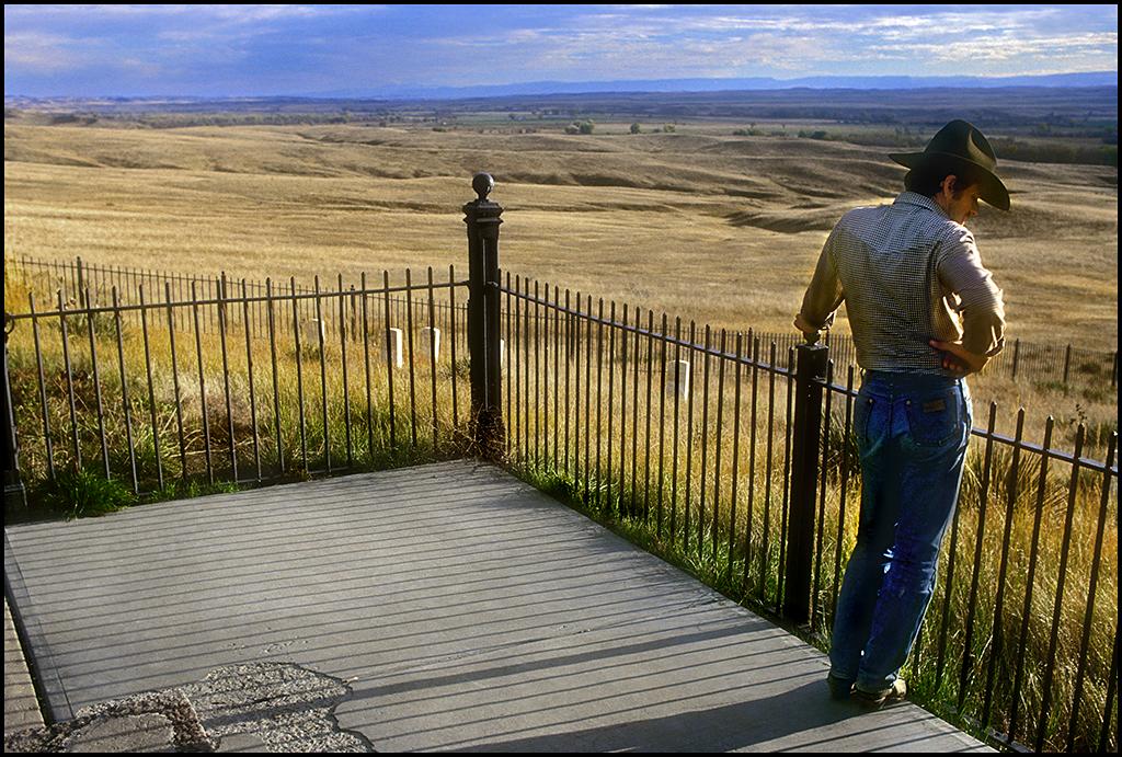 "Raymond Gehman, ""Cowboy At The Little Big Horn"", Wyoming"