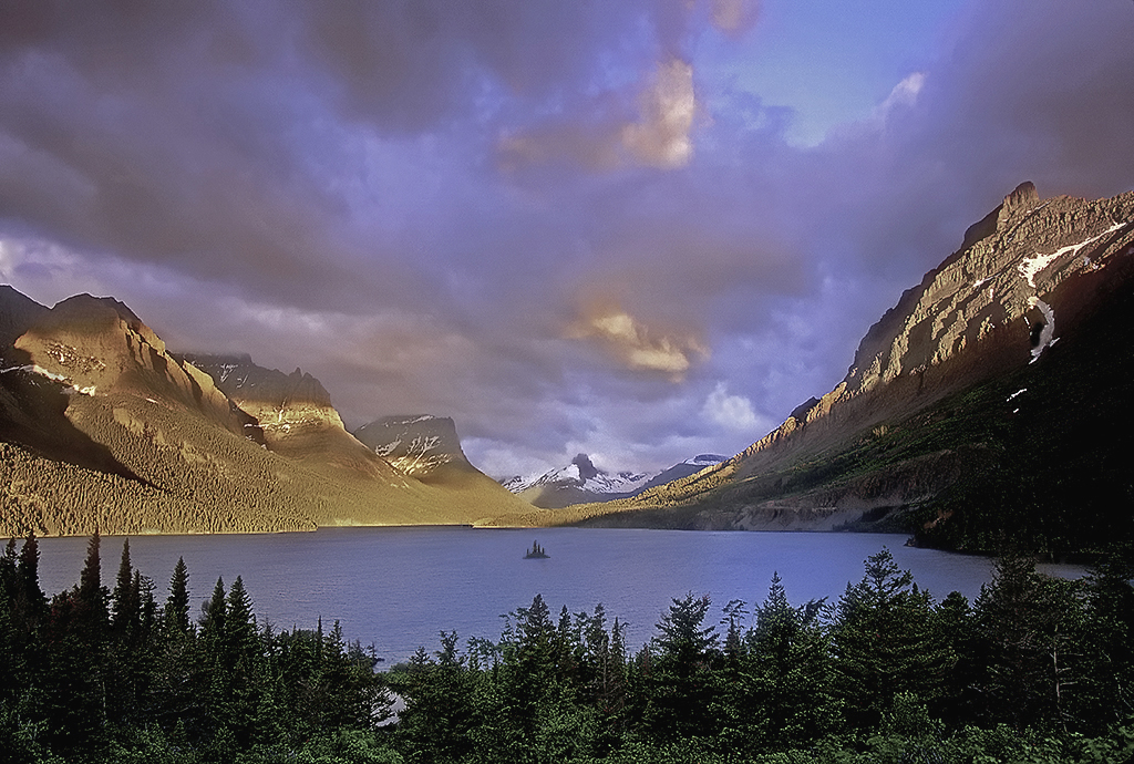"Raymond Gehman, ""St. Mary Lake In The Morning After A Storm"", Glacier National Park, Montana"