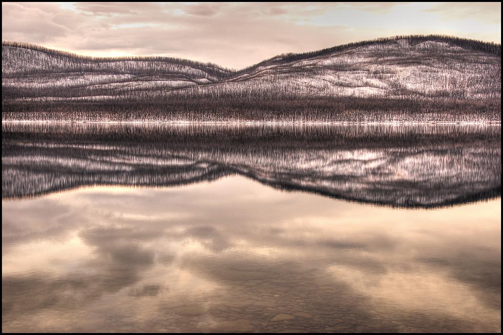 "Raymond Gehman, ""Lake MacDonald in March"", Glacier National Park"