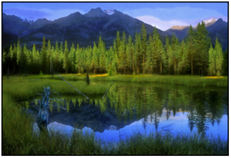 The Canadian Rockies landscape
