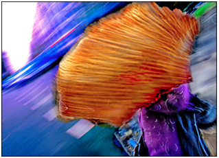 Abstract, colorful street photograph